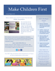 Click to read our Make Children First 2018 Annual Report